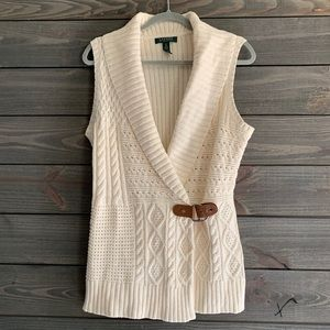 Lauren Ralph Lauren Cream Cardigan Sweater